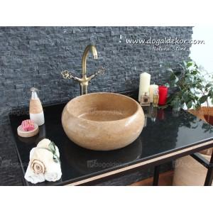 15x42 Doğal Taş Banyo Lavabo Traverten  - DT1497