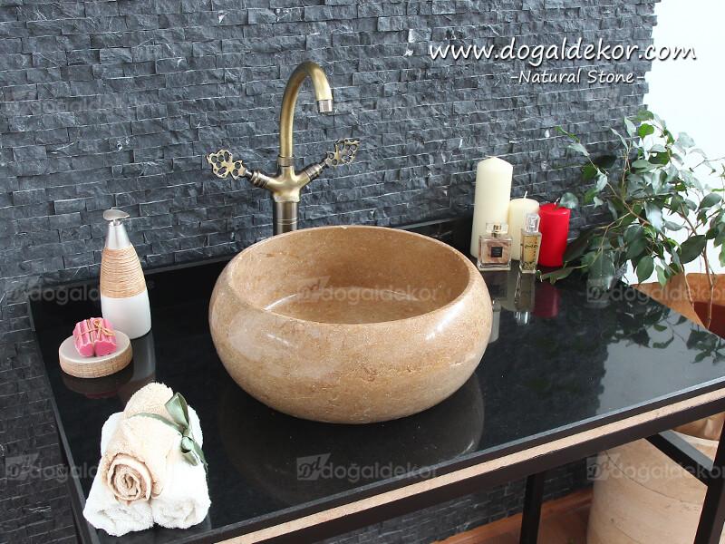 Çanak Lavabo Musluğu (Antik) Pirinç  | Kuğu Batarya -DT1501