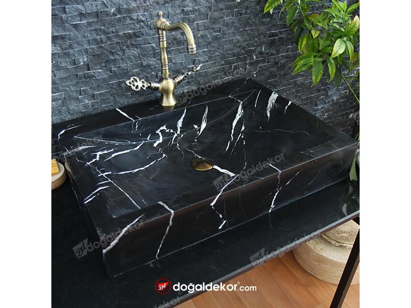 siyah mermer lavabo