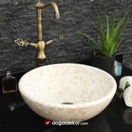 Mermer Çanak Lavabo Mozaik 15x41cm - DT1686