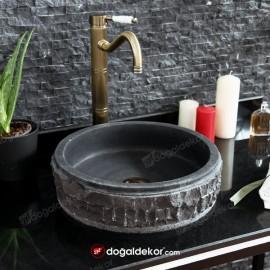 Tezgah Üstü Siyah Çanak Lavabo 11x40cm- DT1691