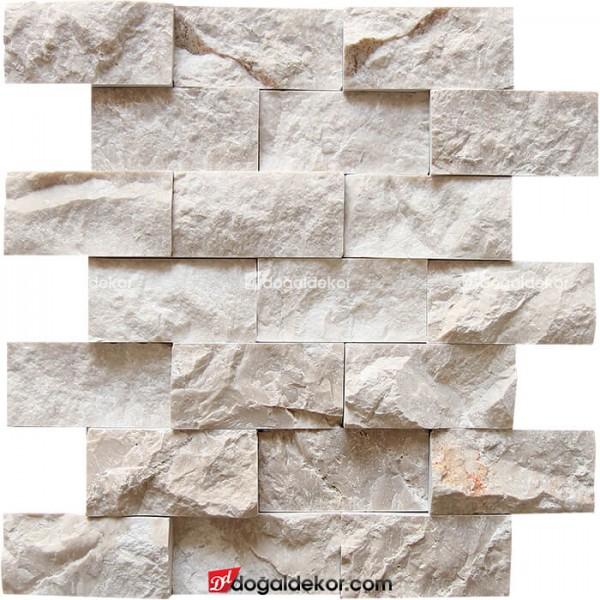 Patlatma Taş  Bej Mermer  Duvar Kaplama 5x10-DT1001