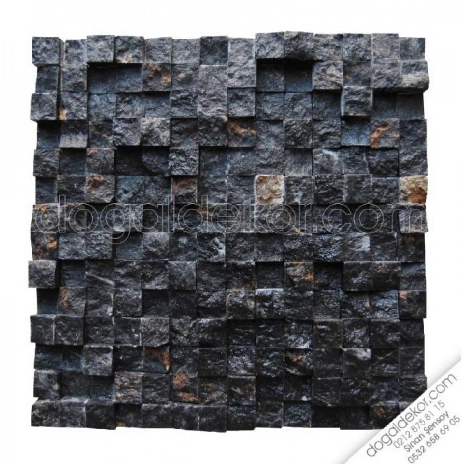 2.3 x 2.3 Siyah Doğal Taş Fileli Patlatma (AKŞEHİR)