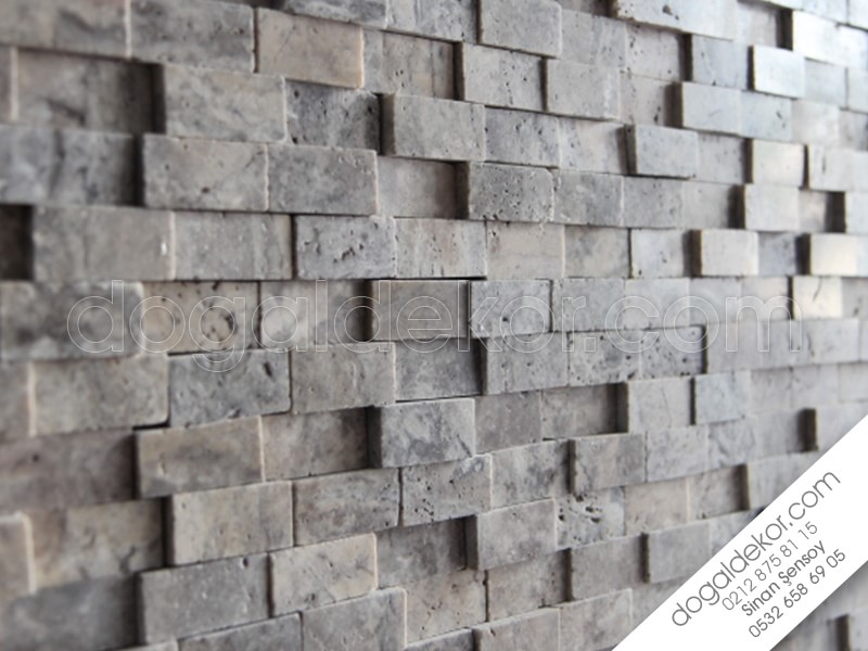 23x48mm 3D Traverten Duvar Kaplaması -DT1062