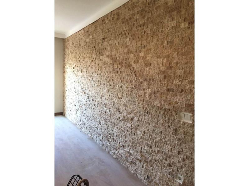 5x10 A+ KALİTE Dogal Tas Denizli Traverten Duvar Taslari -DT1153