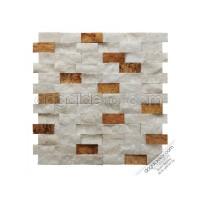 23x48mm Beyaz Fon Sarı Dogal Tas Patlatma Duvar Tasları -DT1169