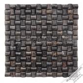 23x23 Akşehir Siyah Hasır Mozaik - DT1173