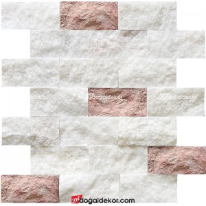 Patlatma Taş Doğal Taş Duvar Taşları 5x10 -DT1180