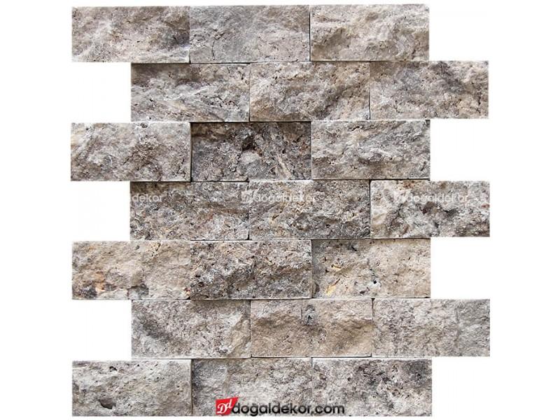 5x10 Silver Gümüş Traverten Patlatma-DT1184
