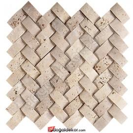 Doğal Taş Hasır Mozaik Sepet Traverten- DT1197