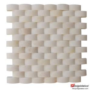 Doğal Taş Hasır Mermer Mozaik - DT1199