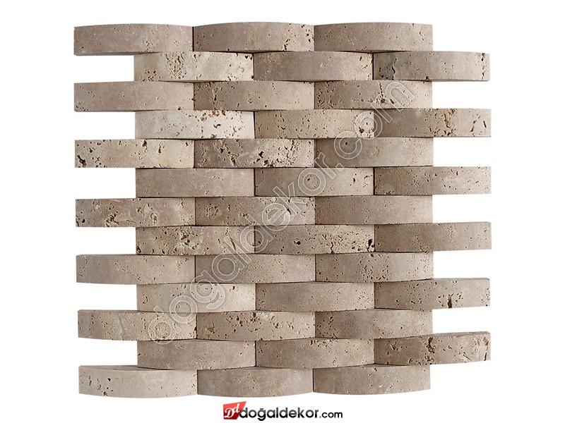 2.3x10cm Doğaltaş Hasır Mozaik - DT1201