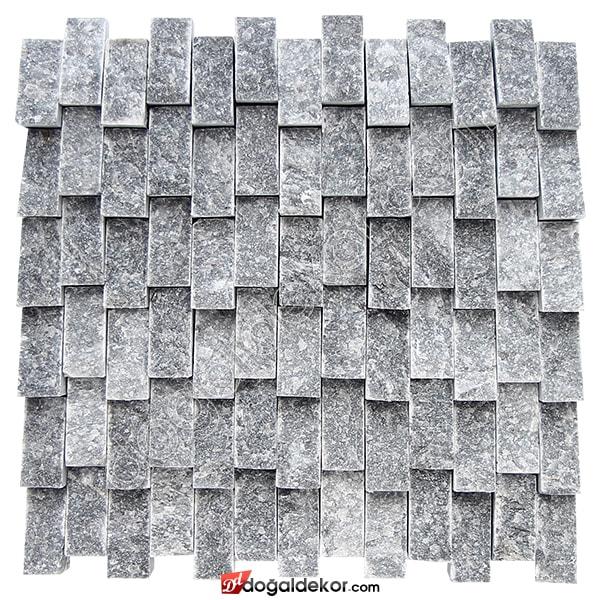 Yalı Baskı Dikey Füme Doğaltaş Patlatma Duvar Kaplama-DT1208