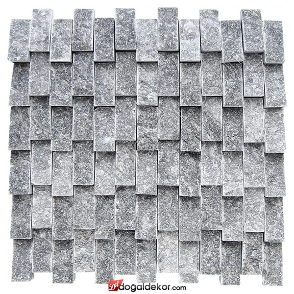 Dikey Füme Doğaltaş Patlatma Duvar Kaplama-DT1208