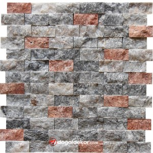 Patlatma Doğal Taş Duvar Kaplama 23x48mm  -DT1210
