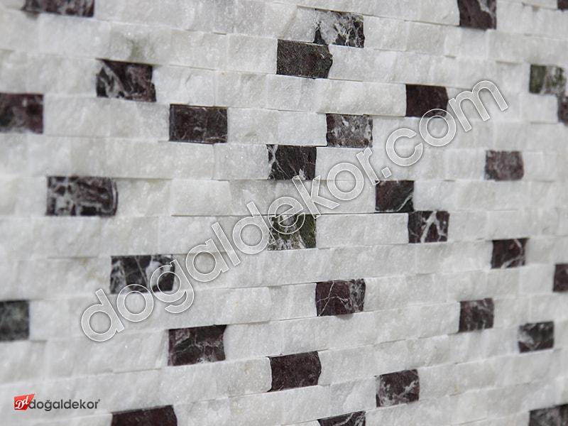 23x48mm Beyaz Fon Doğaltaş Afyon-Vişne Mix Patlatma-DT1260