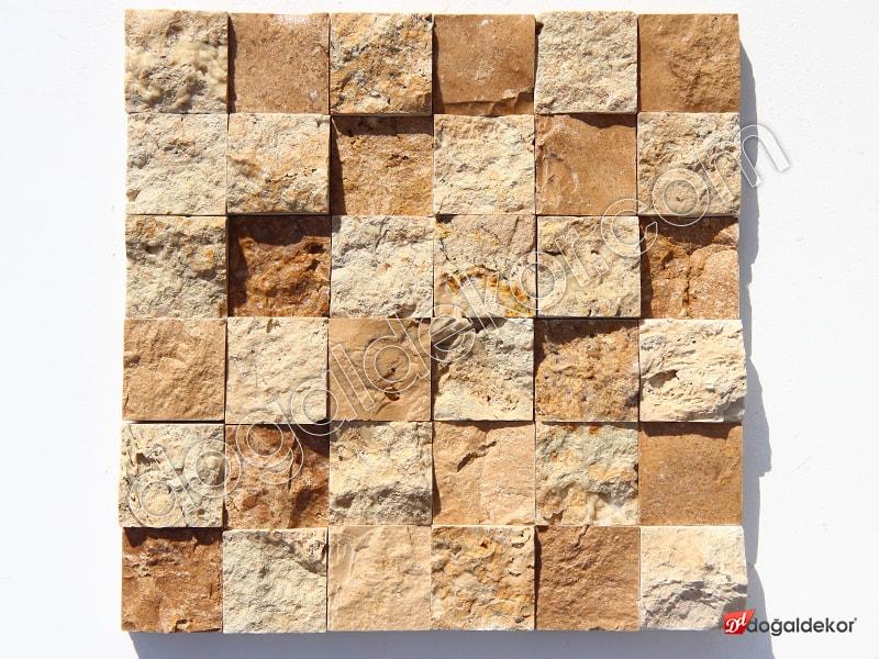 5x5cm Doğal Taş Patlatma Traverten Mix -DT1317