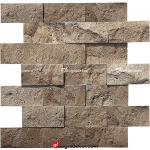 Patlatma Taş Doğal Traverten  5x10  Noce Duvar Kaplaması-DT1320