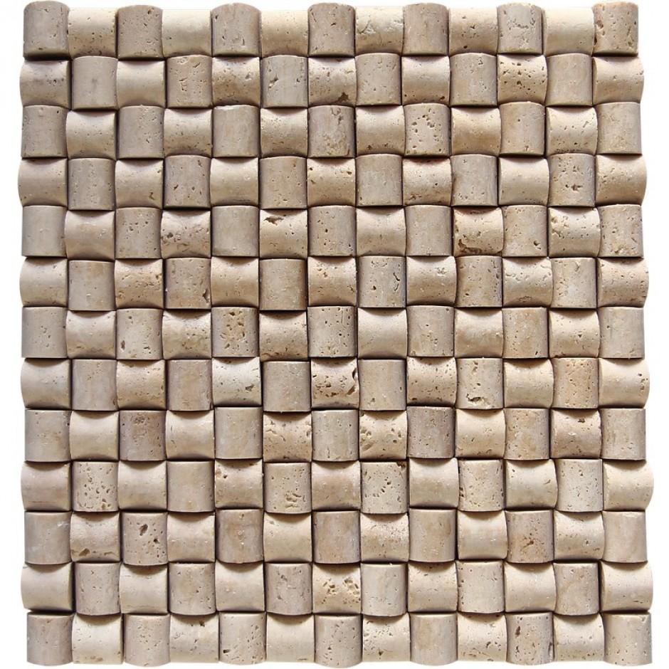 Doğal Taş Hasır Mozaik Şeker Traverten DT1330