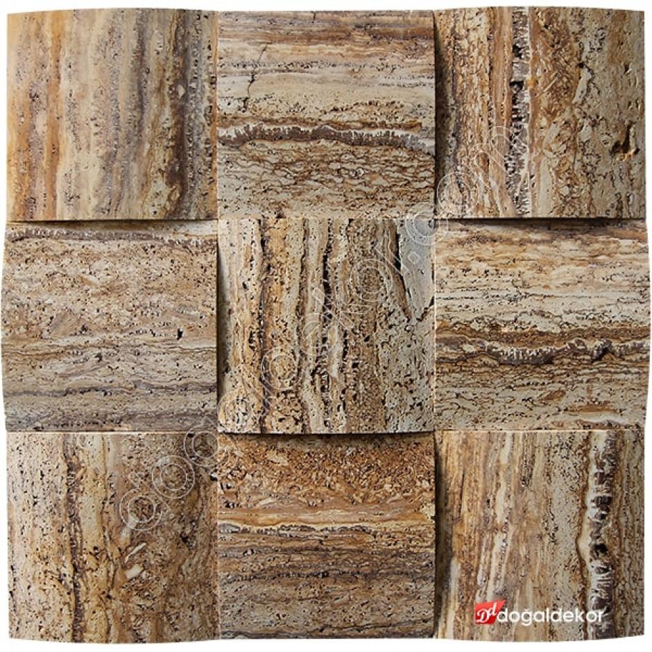 15x15 Mistik Scabas Traverten Hasır Doğal Taş-1336