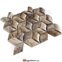 Hasır Model Balık Sırtı Doğal Taş Duvar Kaplama - DT1368