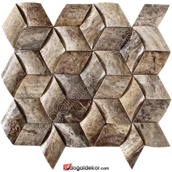 Aralya - Hasır Model Balık Sırtı Doğal Taş Duvar Kaplama - DT1368