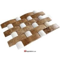 Hasir Model Balık Sırtı Doğal Taş Duvar Kaplama - DT1370