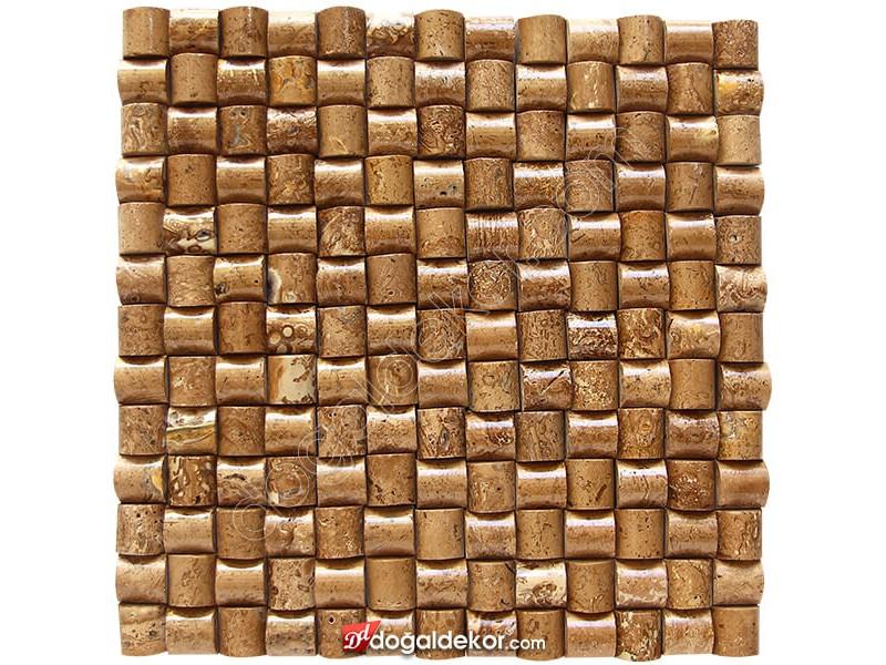 23x23 Dekoratif Doğal Taş Kaplama Şeker Noce -DT1373