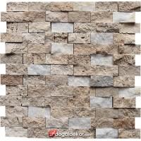 Traverten Patlatma Duvar Kaplama Doğal Taş 23x48  - DT1418
