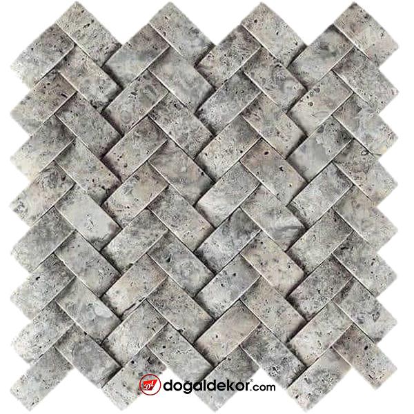 Sepet Silver Traverten Doğal Taş Duvar Kaplama -DT1581