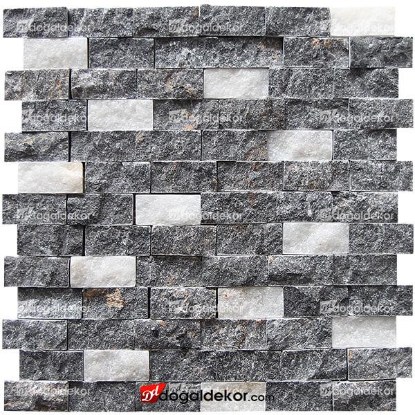 23x48mm Beşiktaş Siyah Beyaz Duvar Taşları-DT1903