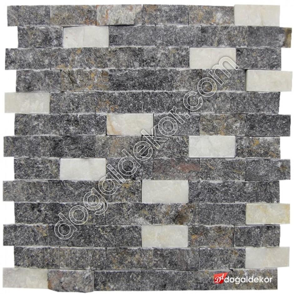 Beşiktaş Siyah Beyaz Duvar Taşları-DT1903