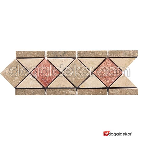 Dekoratif Mermer Traverten Mozaik Bordür-DT1252