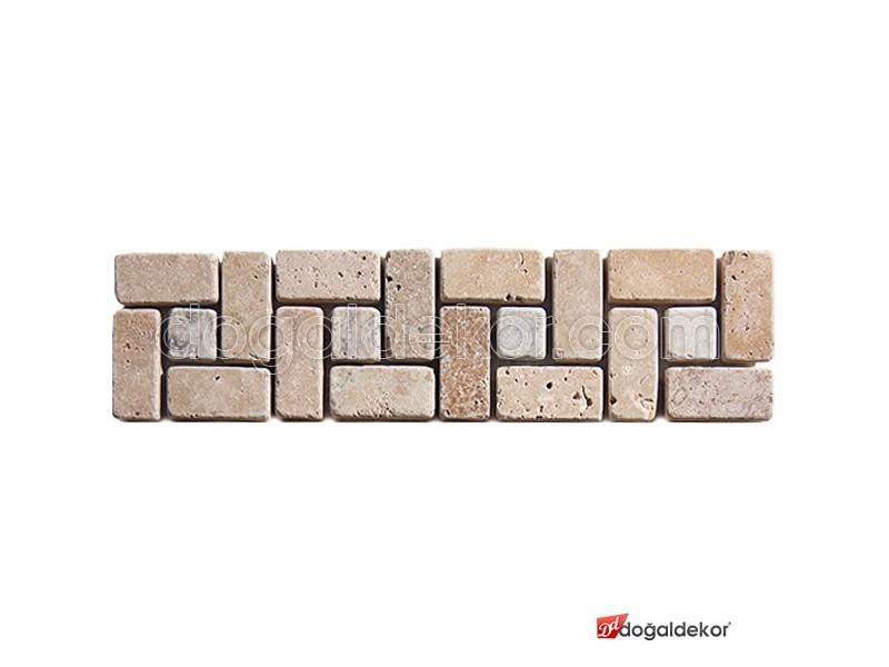Bordür Traverten Fileli Mozaik- DT1267