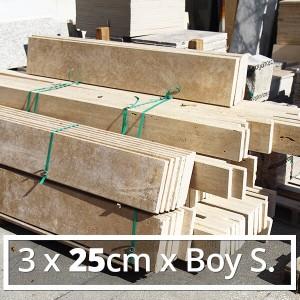 3x25cmxBoy Traverten Küpeşte-Denizlik-Harpuşta DT1378