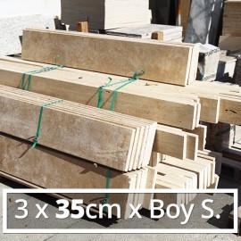 3x35cmxBoy Traverten Küpeşte-Denizlik-Harpuşta DT1380