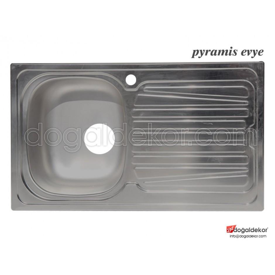 Paslanmaz Celik Evye Pyramis Tek Göz