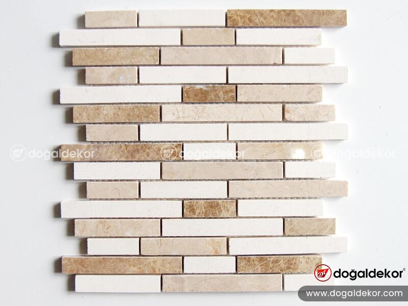 mutfak tezgah arası doğal taş mozaik fayans