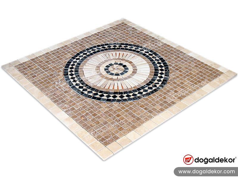 Dekoratif Mozaik Göbek Dekor Madalyon