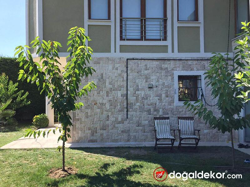 Bina Eteği Su Basman Bahçe Duvarı Doğal Taş Kaplama